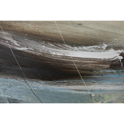 Close up detail of 'Salt Sea 1' mixed media original by Justine Lois Thorpe, available at Padstow Gallery, Cornwall