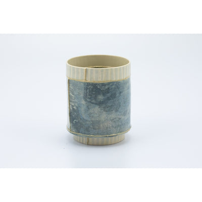 Small Vessel (SV50) | Blue Stripe | handbuilt ceramic created by Emily-Kriste Wilcox, available from Padstow Gallery, Cornwall