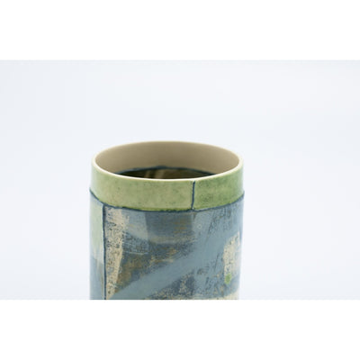 Small Vessel (SV87) | Green | handbuilt ceramic created by Emily-Kriste Wilcox, available from Padstow Gallery, Cornwall