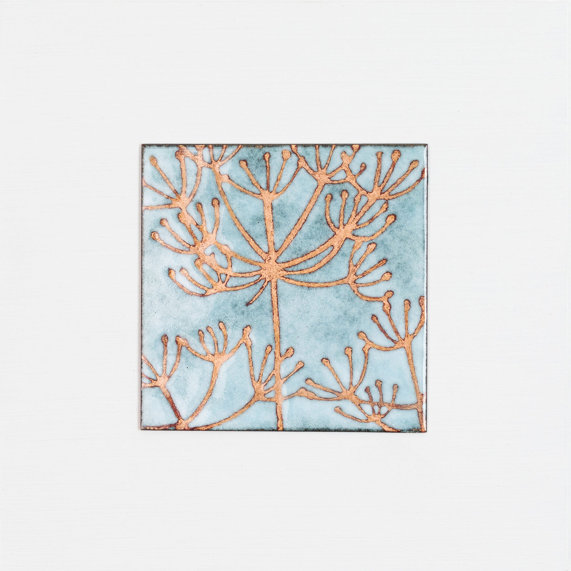 Vitreous enamel on copper panel, by Janine Partington, available from Padstow Gallery Cornwall