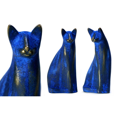 AA16 Blue 'Savannah' limited edition sculpture by Andrew Allanson, available at Padstow Gallery, Cornwall