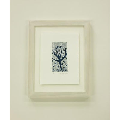 Nest by Liz Toole, screenprint, image shown is example of framing option, sold unframed and unmounted