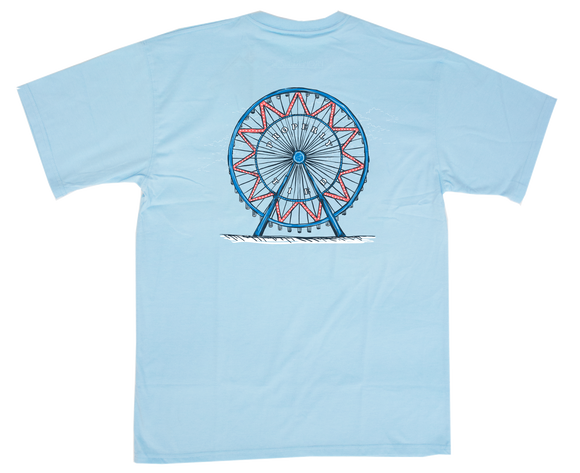 Properly Tied Ferris Wheel Tee - Ice Blue