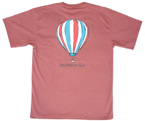 Properly Tied Hot Air Balloon Tee - Cayenne