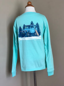 "Properly Tied Long Sleeve T - ""Winter Cruise"" Seafoam"