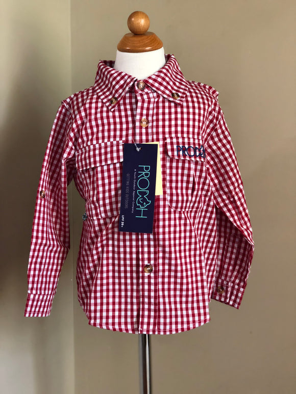 Prodoh Red Gingham Fishing Shirt