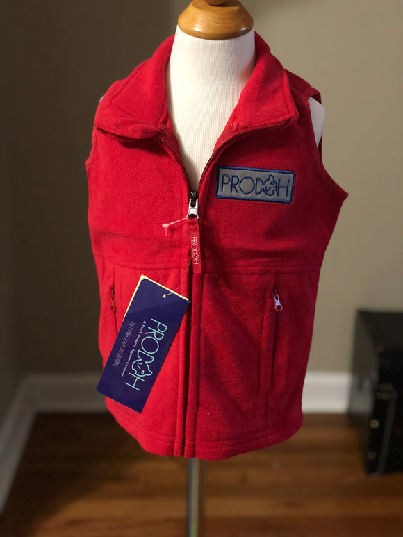 Prodoh Full Zip Fleece Vest - Red