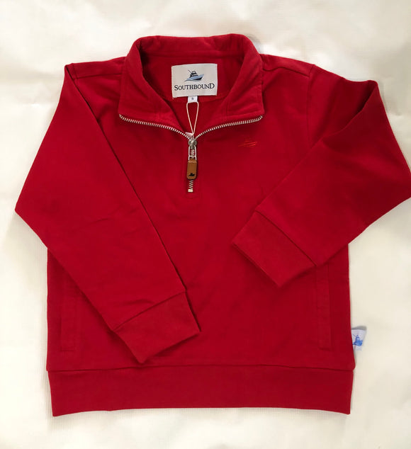 Southbound Quarter Zip Pullover - Red