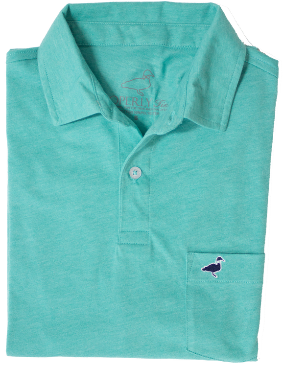 Properly Tied Pocket Polo - Soft Green