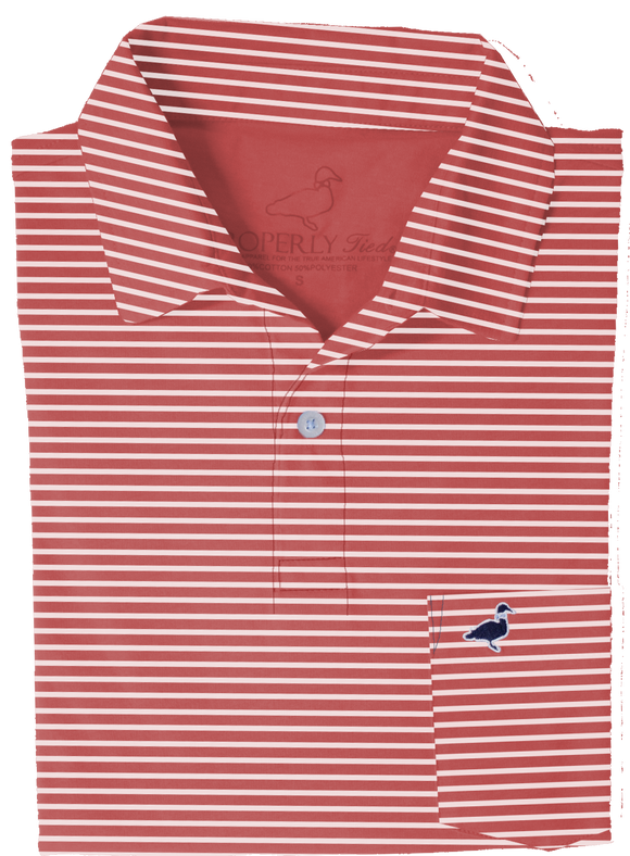 Properly Tied Pocket Polo - Red