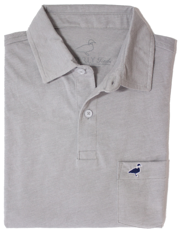 Properly Tied Pocket Polo - Grey