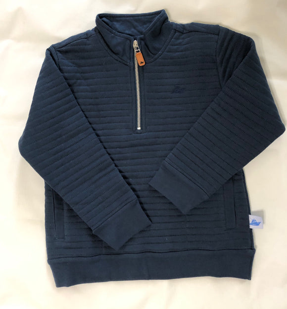 Southbound Quilted Pullover - Navy