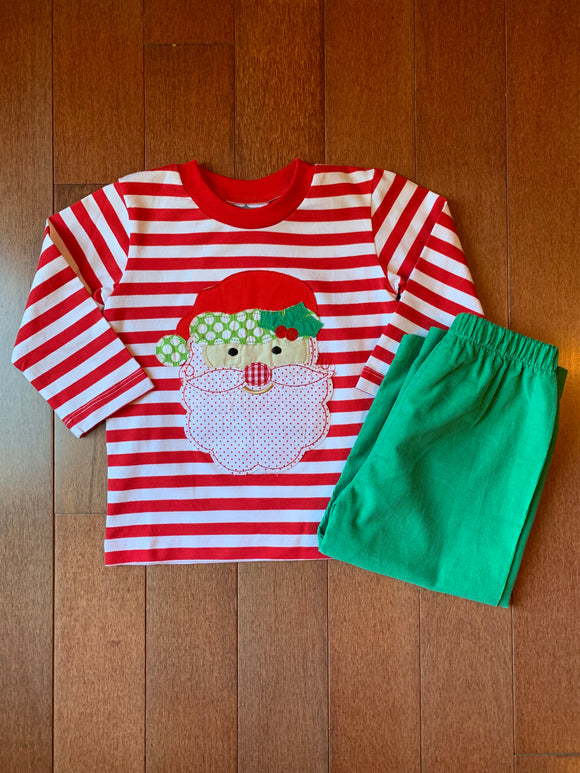 True Santa Appliqué Tee and Pants Set