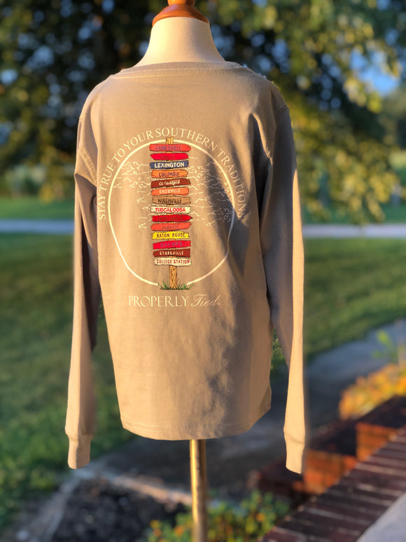Properly Tied Southern Traditions long sleeve Tee