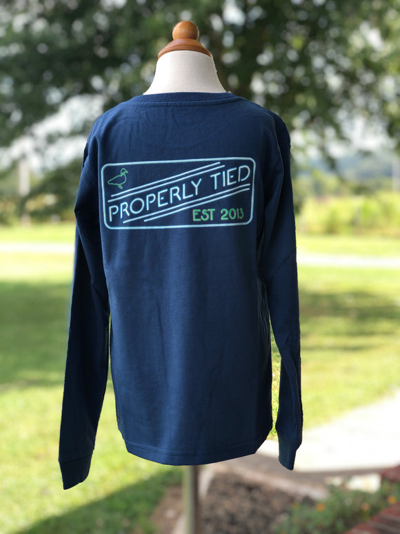 Properly Tied Neon Logo long sleeve tee