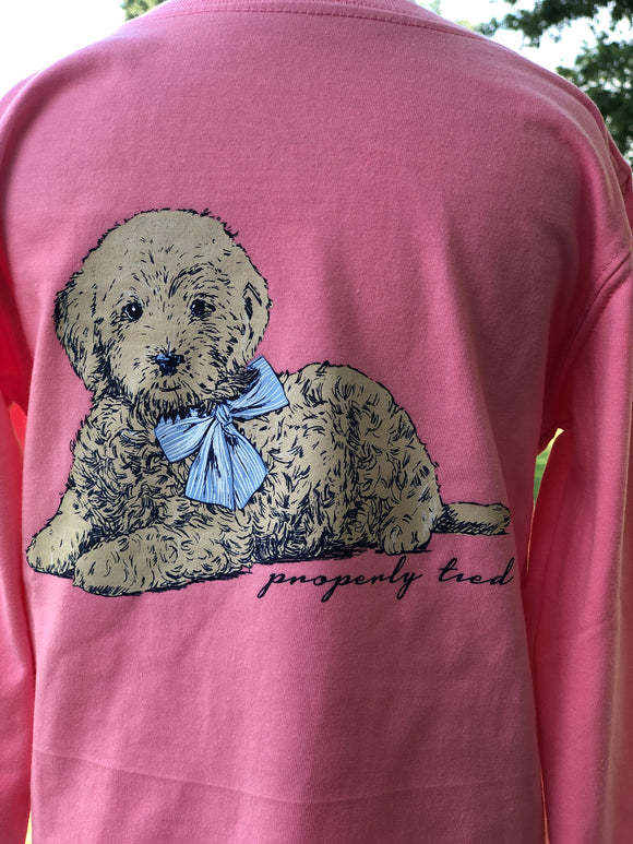 Properly Tied Perfect Pup Long Sleeve Tee