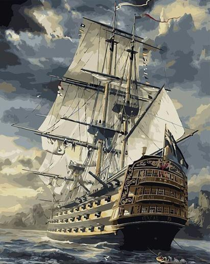 DIY Painting By Numbers - Ship (16