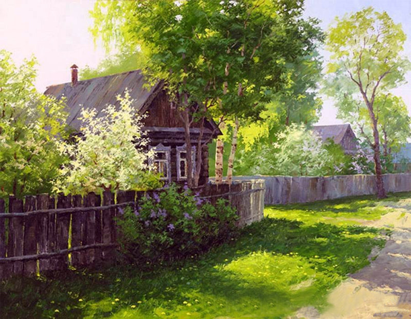 DIY Painting By Numbers - Farm House (16