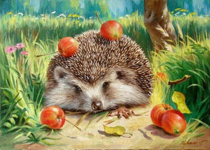 "DIY Painting By Numbers - Jolly Hedgehog  (16""x20"" / 40x50cm)"