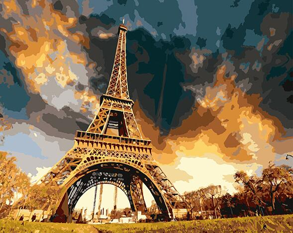 DIY Painting By Numbers - The Majestic Eiffel Tower (16