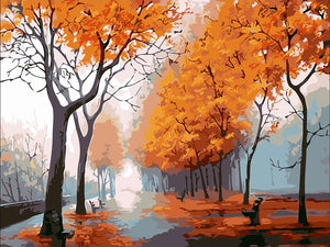 "DIY Painting By Numbers - Autumn Park (16""x20"" / 40x50cm)"