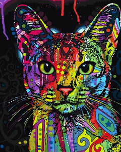 "DIY Painting By Numbers - Evocative Cat (16""x20"" / 40x50cm)"