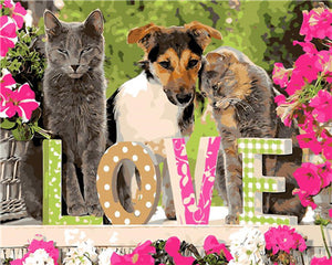 "DIY Painting By Numbers - Love Pets (16""x20"" / 40x50cm)"