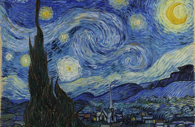 DIY Painting By Numbers - Starry Night by Van Gogh (16