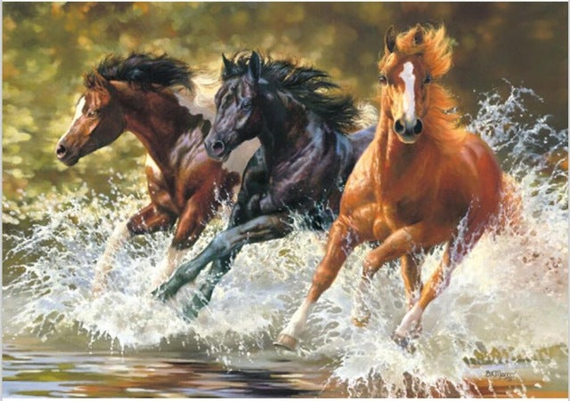 DIY Painting By Numbers - Strapping Horses (16
