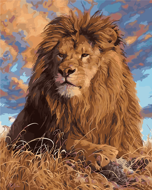 DIY Painting By Numbers - Lion Lookout  (16