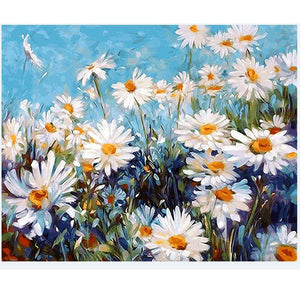 "DIY Painting By Numbers - Daisy Asteraceae (16""x20"" / 40x50cm)"