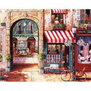 "DIY Painting By Numbers - Classic Italian Store (16""x20"" / 40x50cm)"