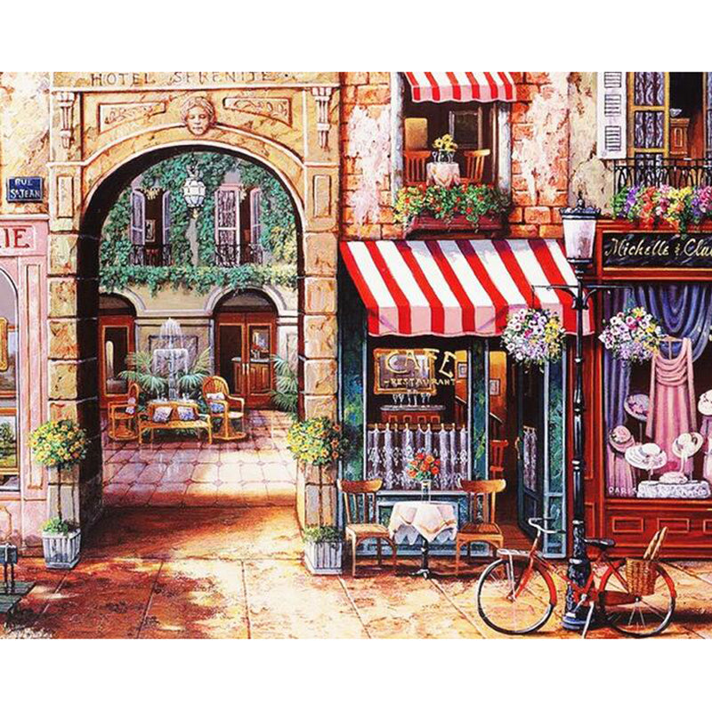 DIY Painting By Numbers - Classic Italian Store (16