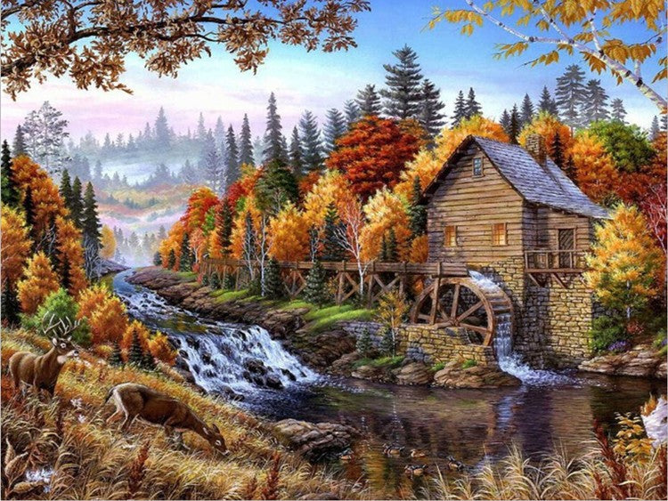 DIY Painting By Numbers - Water Wheel (16