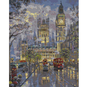 "DIY Painting By Numbers - Lights Up Big Ben  (16""x20"" / 40x50cm)"