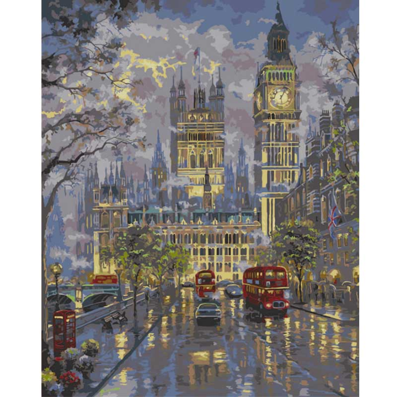 DIY Painting By Numbers - Lights Up Big Ben  (16