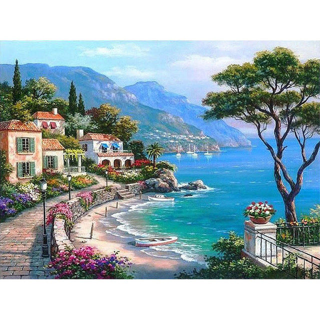 DIY Painting By Numbers - Luxurious Harbor (16
