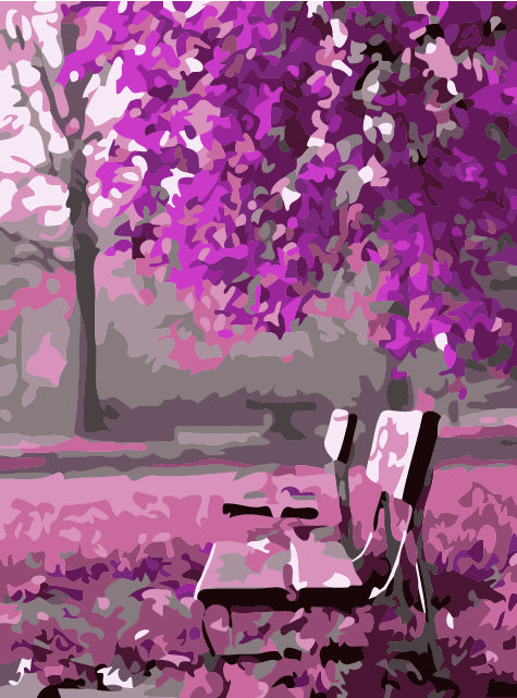 DIY Painting By Numbers - Fuchsia Garden (16