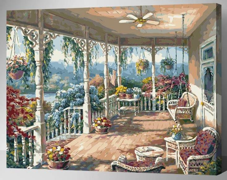 DIY Painting By Numbers - Lush Home Garden (16