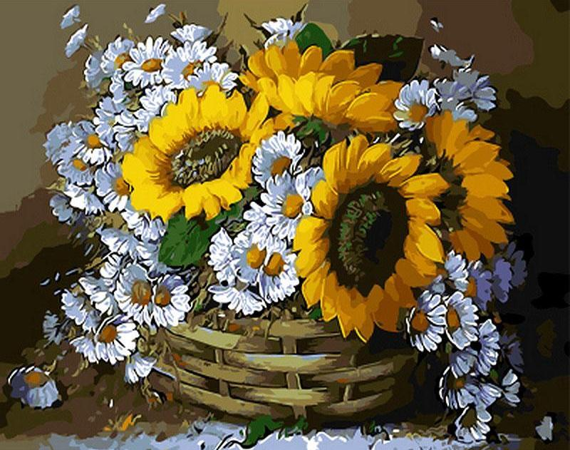 DIY Painting By Numbers - Still Life Sunflowers (16