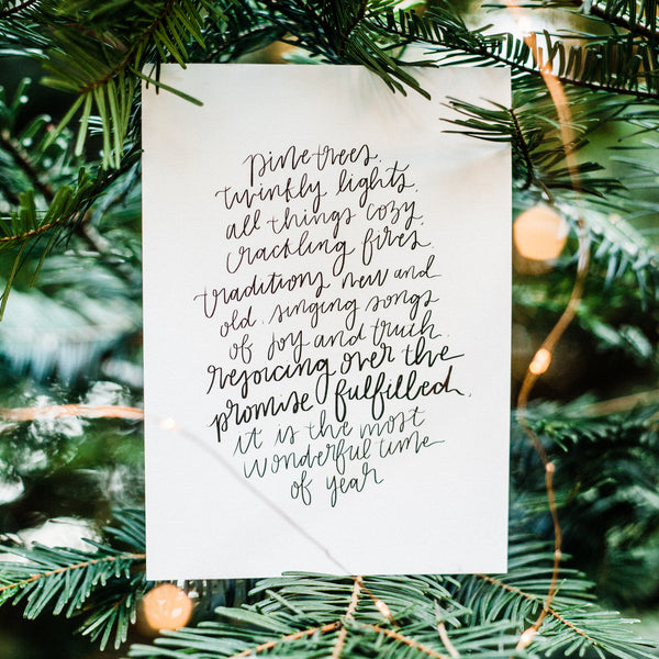 'Christmas Traditions' Printable