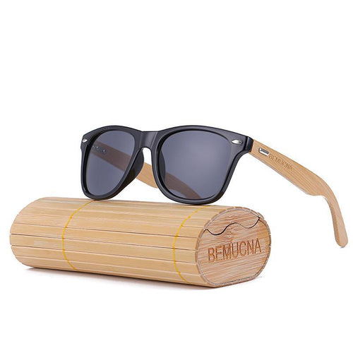 Black Rim Bamboo Sunglasses