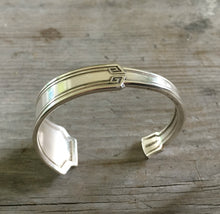 Classic Grecian Design on this upcycled Silverware Cuff Bracelet