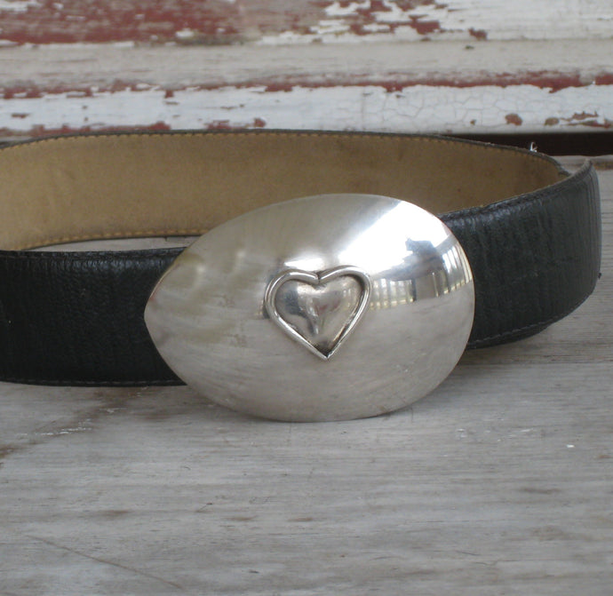 Spoon Belt Buckle - Heart #2295