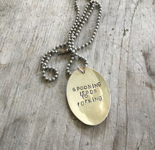 Hand Stamped Spoon Necklace