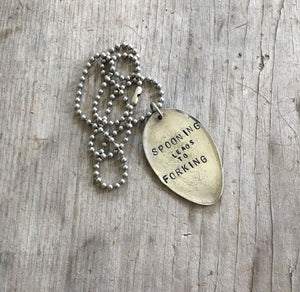 Hand Stamped Spoon Jewelry