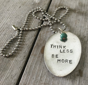Stamped Spoon Necklace – THINK LESS BE MORE – #2726
