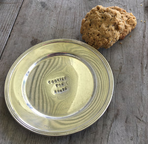 Cookies for Santa Stamped Silverplate Dish