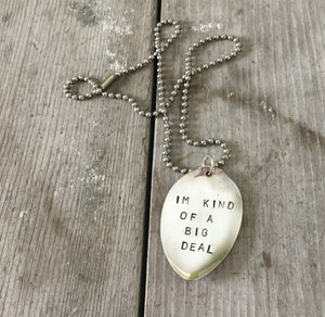 Stamped Spoon Necklace – I'M KIND OF A BIG DEAL – #3011