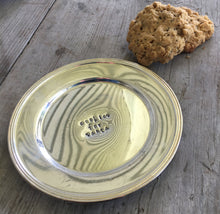 Cookies for Santa Hand Stamped Vintage Silverplate Dish